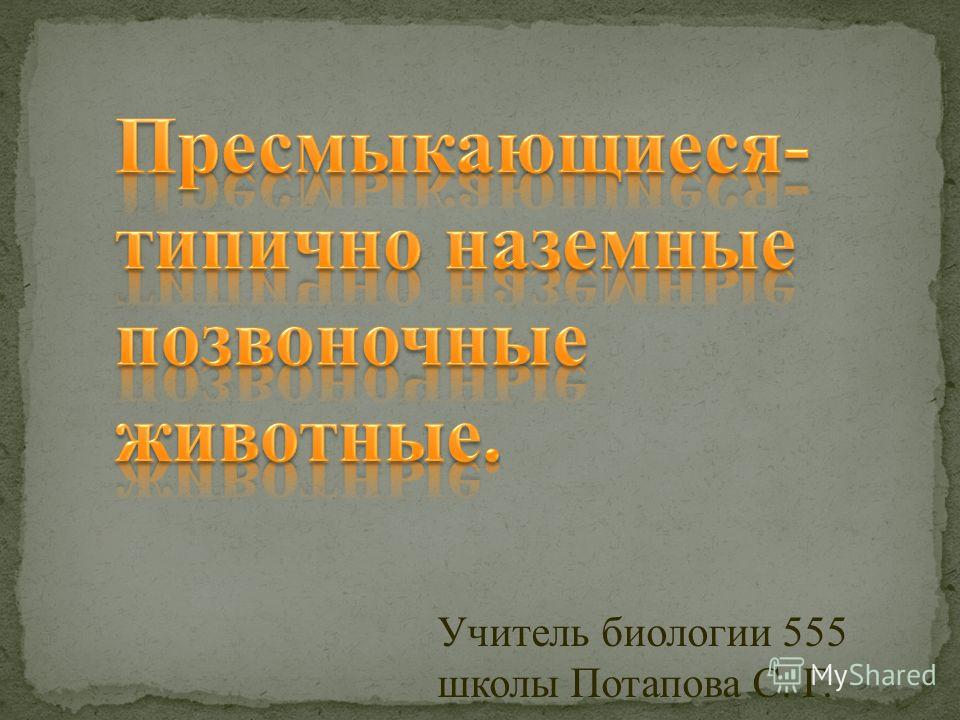 Учитель биологии 555 школы Потапова С. Г.