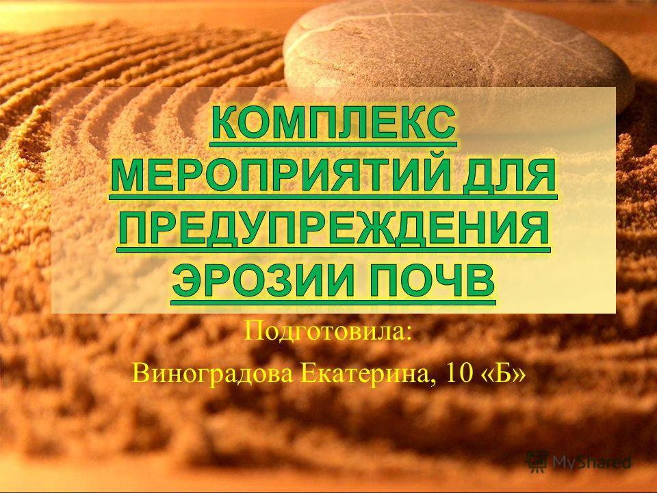 Подготовила: Виноградова Екатерина, 10 «Б»