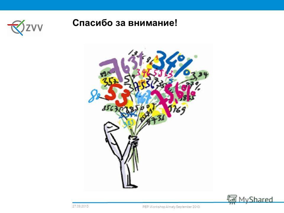 27.09.2013 PEP Workshop Almaty September 2013 Спасибо за внимание!
