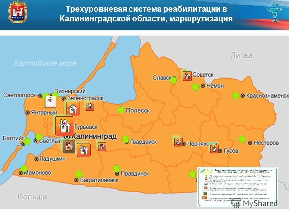 Трехуровневая система реабилитации в Калининградской области, маршрутизация