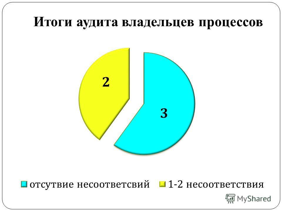 Итоги аудита владельцев процессов