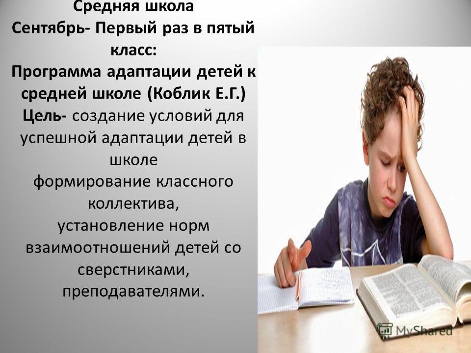 адаптации детей в школе