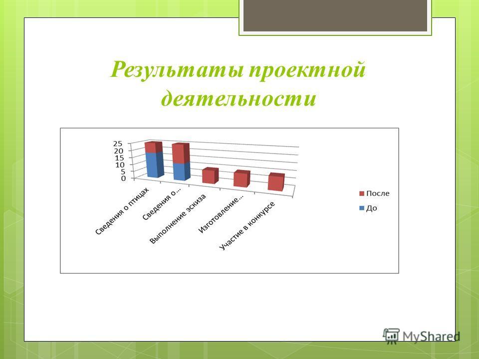 Результаты проектной деятельности