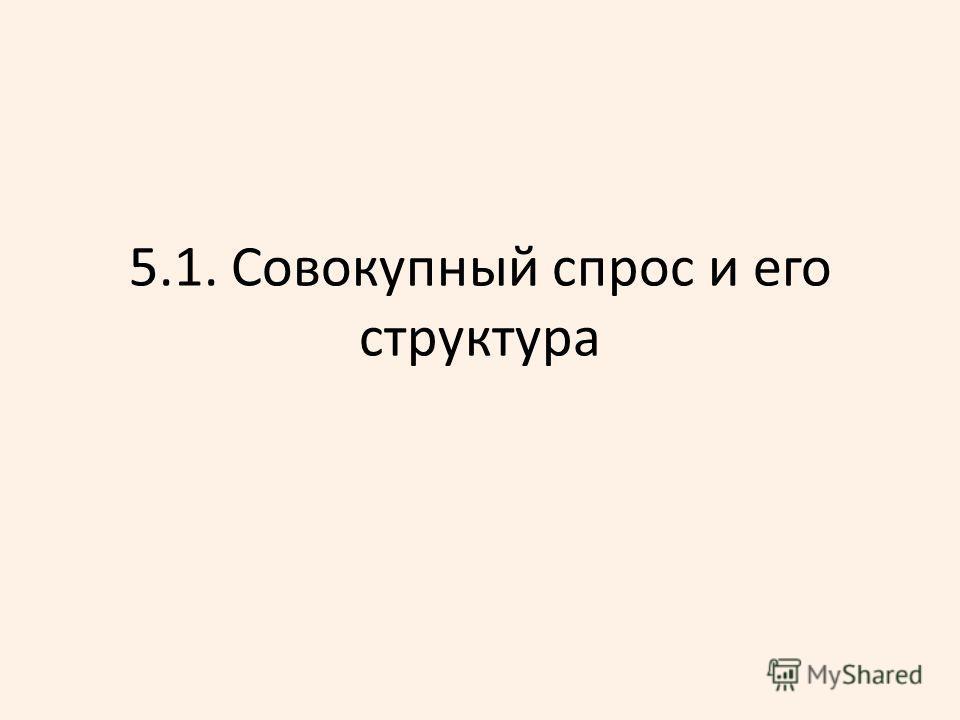 5.1. Совокупный спрос и его структура