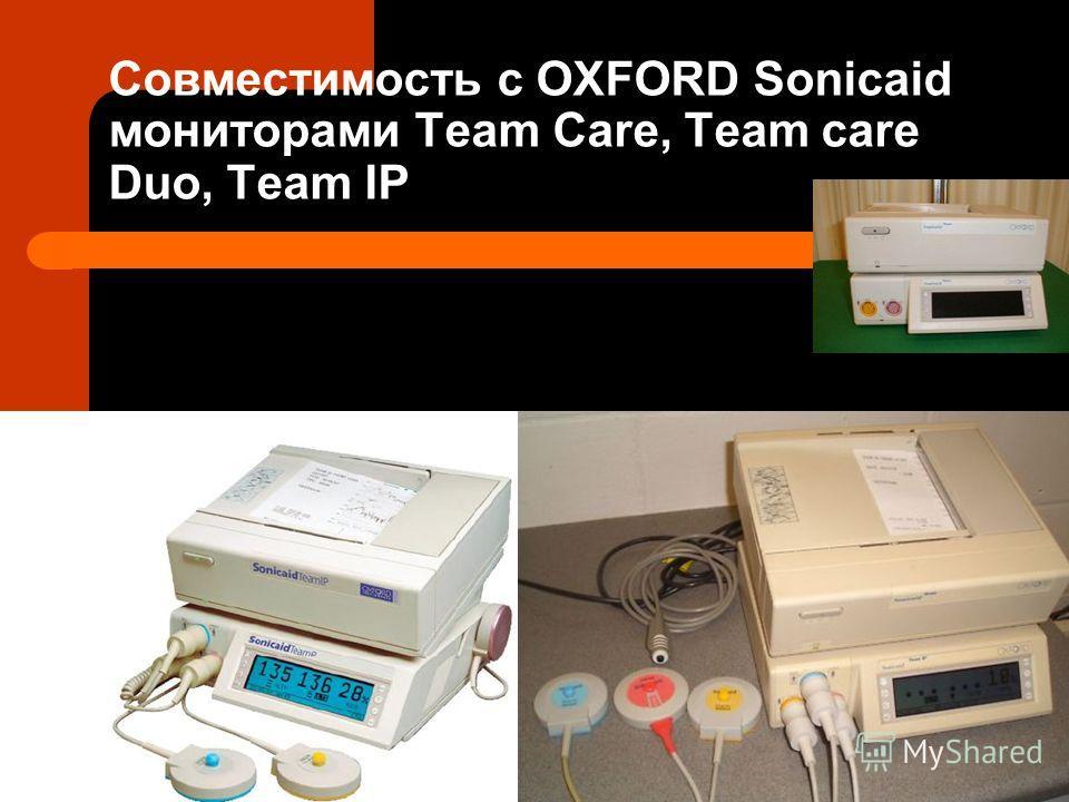 Совместимость с OXFORD Sonicaid мониторами Team Care, Team care Duo, Team IP