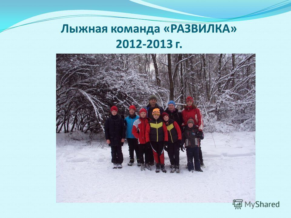 Лыжная команда «РАЗВИЛКА» 2012-2013 г.
