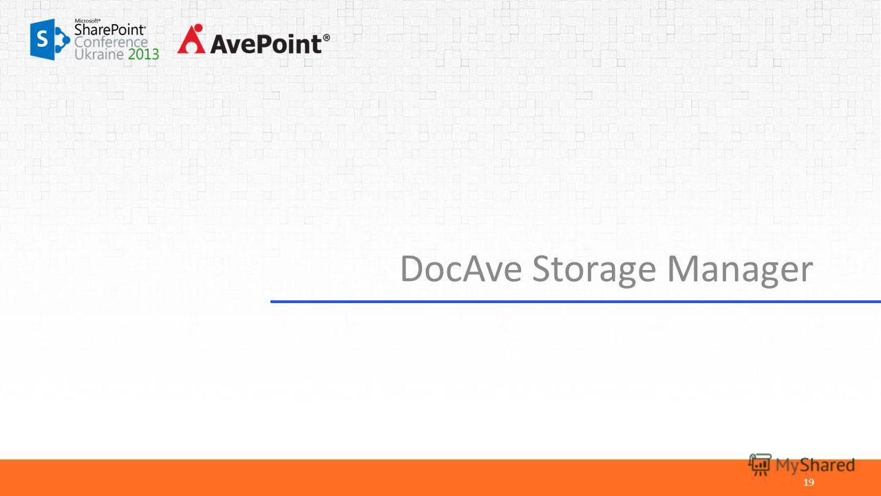 DocAve Storage Manager 19