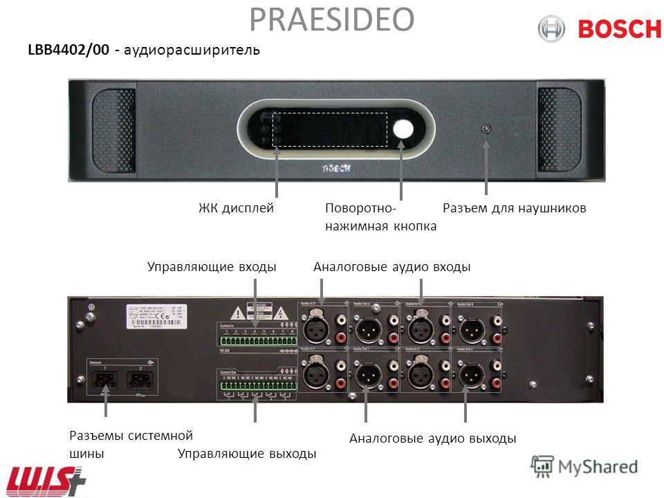 PRAESIDEO Системные усилители 4 модели PRS-1P500 1x 500Вт (LBB 4421/10) PRS-2P2502x 250 Вт (LBB 4422/10) PRS-4P1254x 125 Вт (LBB 4424/10) LBB 4426/00 4x 60 Вт Снят с производства LBB 4428/00 8x 60 Вт (только модель /00) Современные усилители класса D