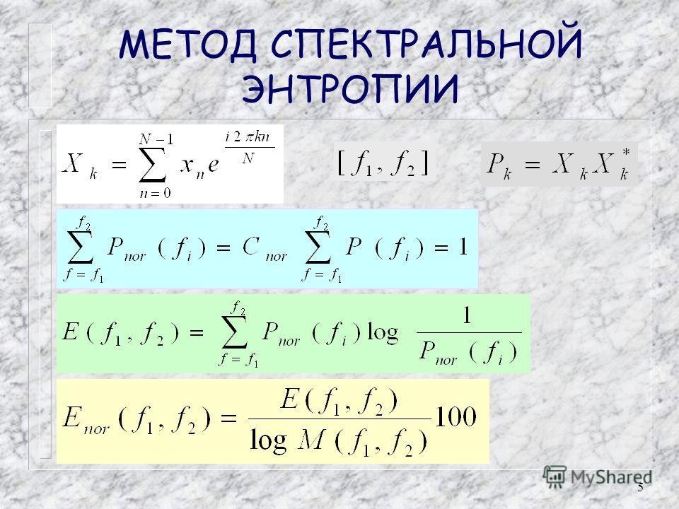 5 МЕТОД СПЕКТРАЛЬНОЙ ЭНТРОПИИ