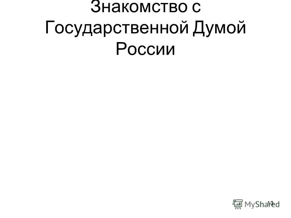 13 Знакомство с Государственной Думой России
