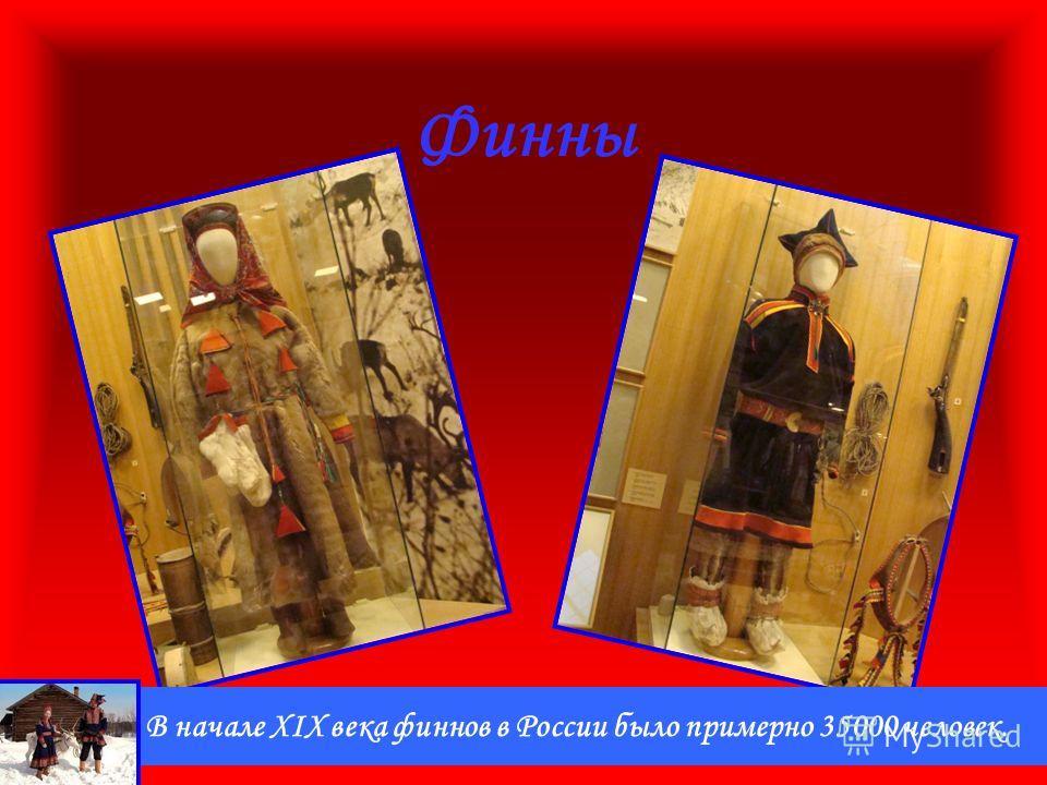 Финны В начале XIX века финнов в России было примерно 35000 человек.