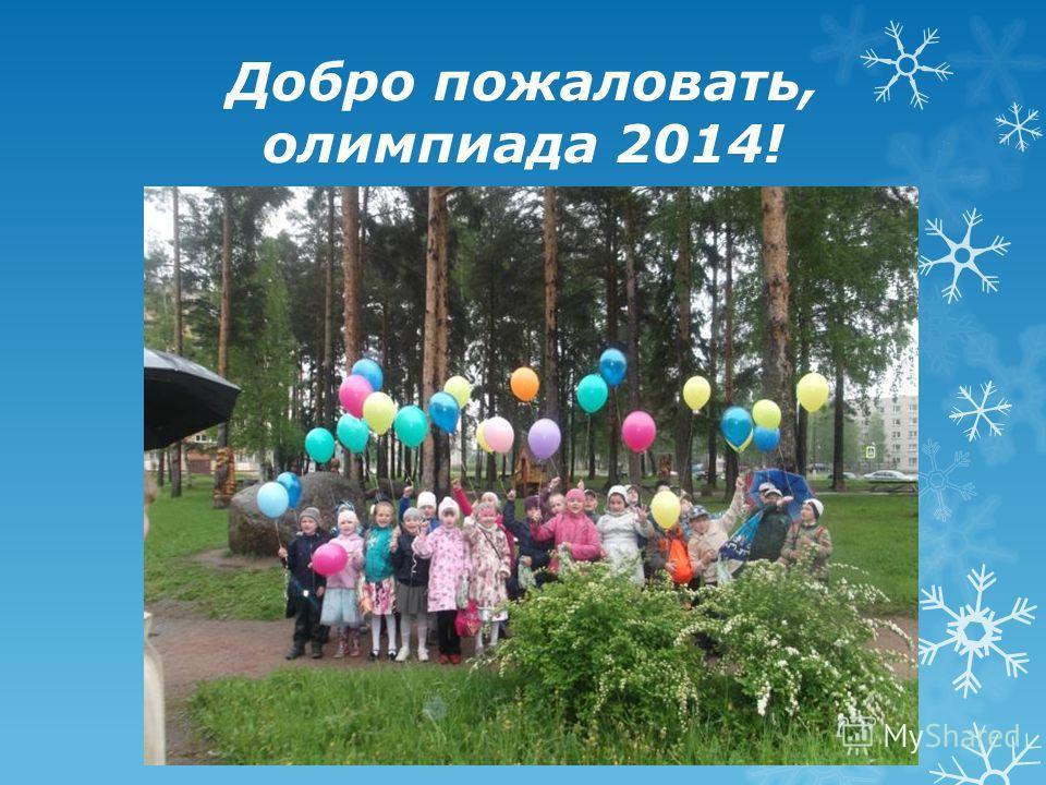 Добро пожаловать, олимпиада 2014!
