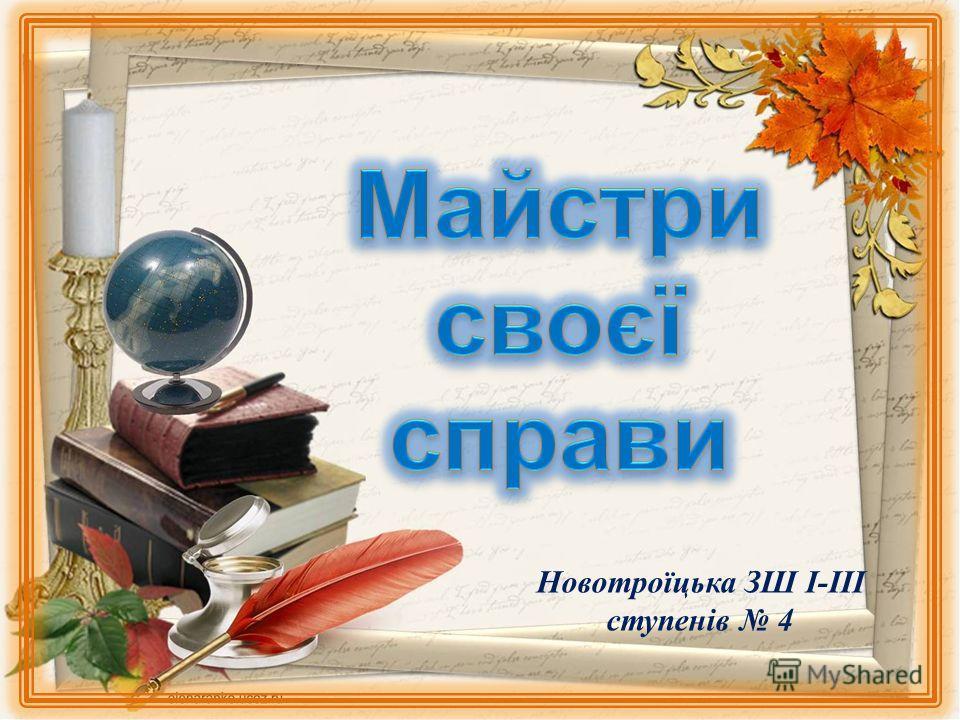 Новотроїцька ЗШ І-ІІІ ступенів 4