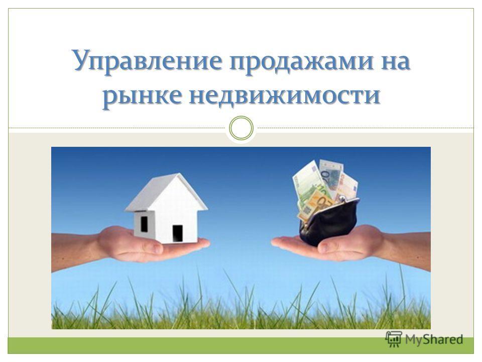 Управление продажами на рынке недвижимости