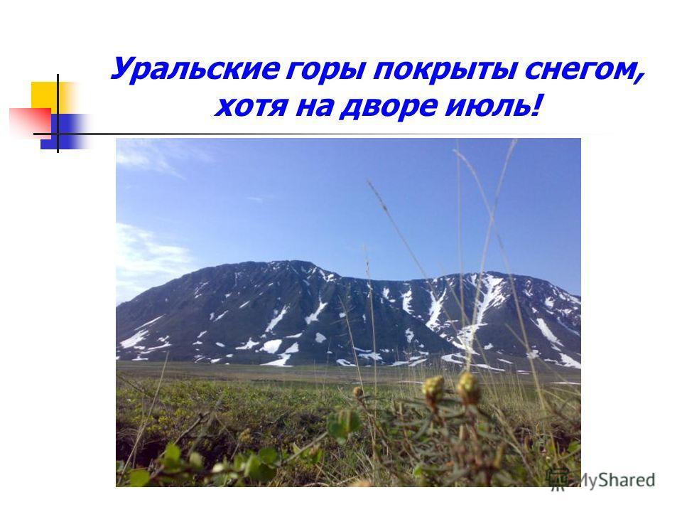 Уральские горы покрыты снегом, хотя на дворе июль!