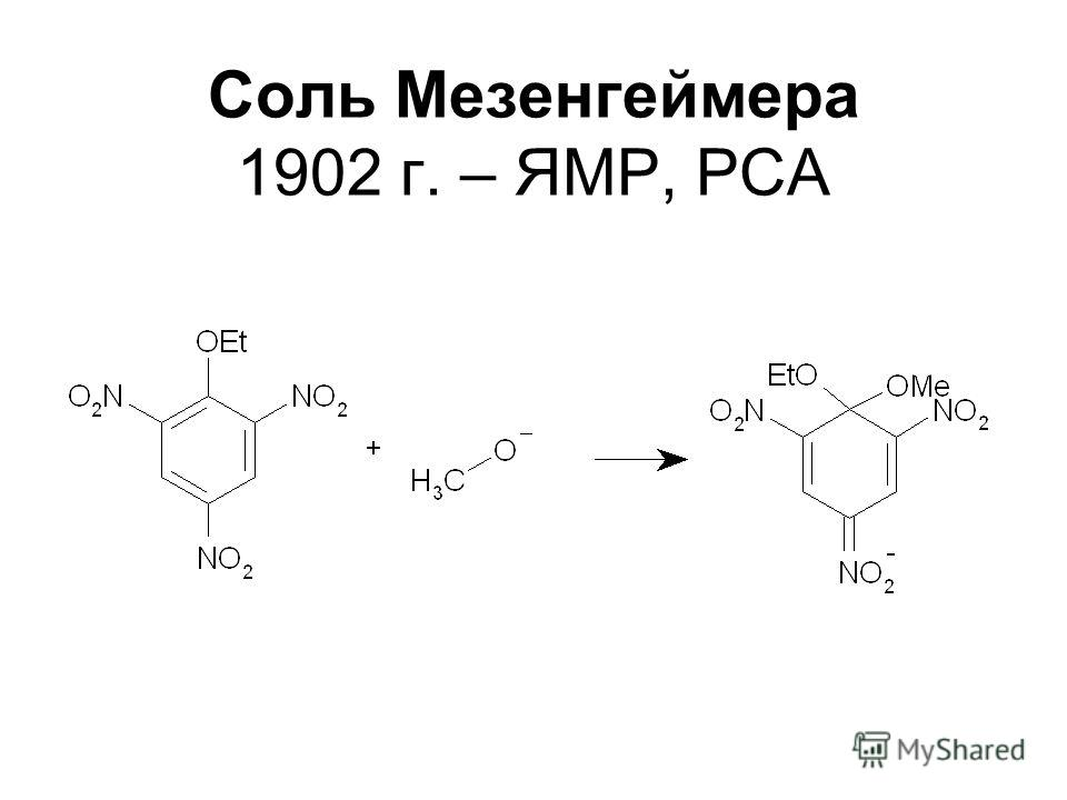 Соль Мезенгеймера 1902 г. – ЯМР, РСА