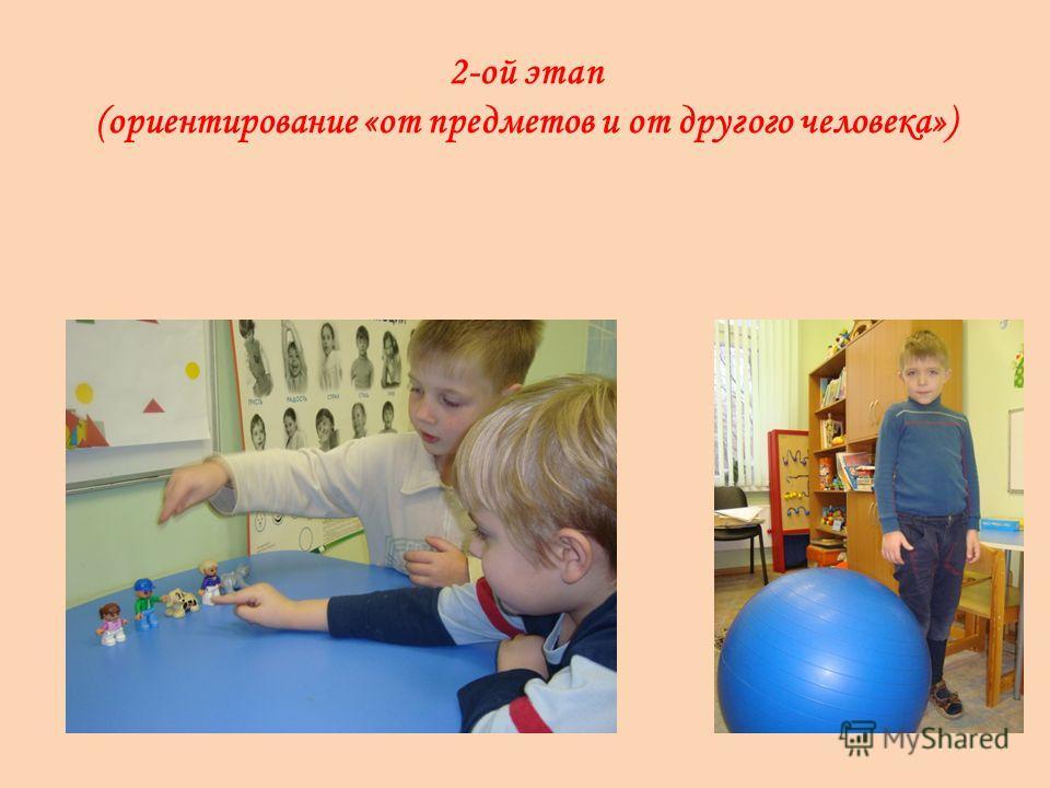 2-ой этап (ориентирование «от предметов и от другого человека»)