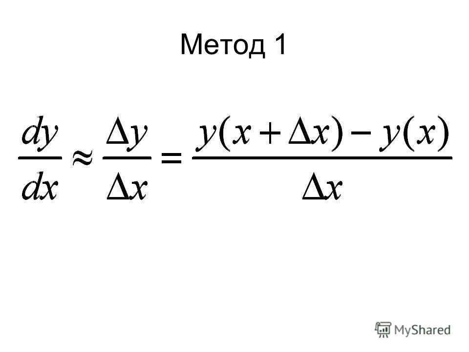 Метод 1