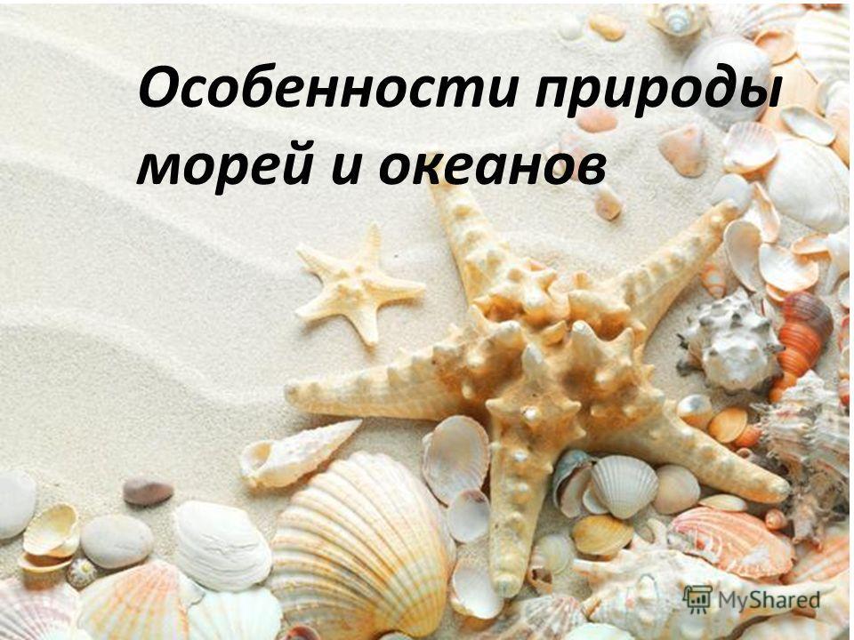 Особенности природы морей и океанов