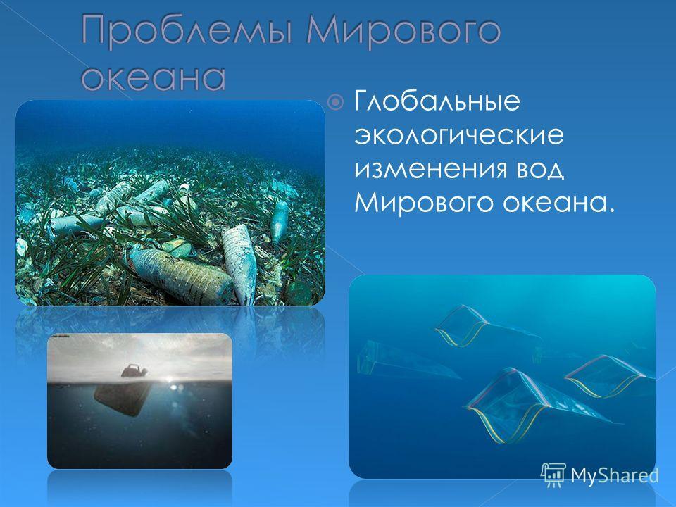 Глобальные экологические изменения вод Мирового океана.