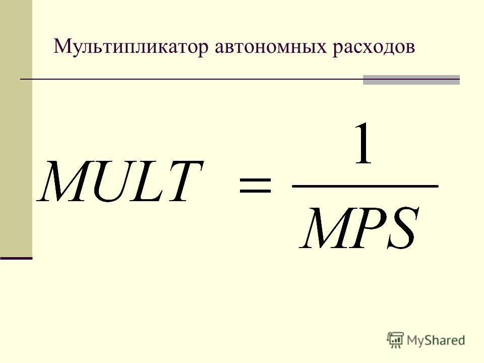 Мультипликатор автономных расходов