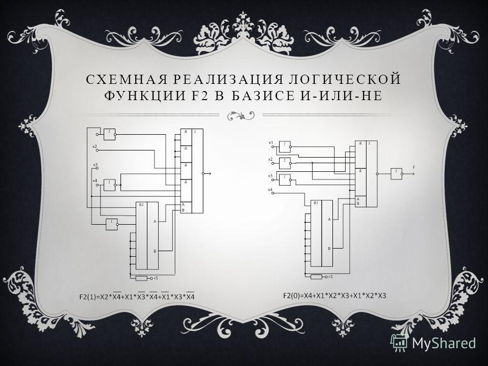 СХЕМНАЯ РЕАЛИЗАЦИЯ ЛОГИЧЕСКОЙ ФУНКЦИИ F2 В БАЗИСЕ И-ИЛИ-НЕ