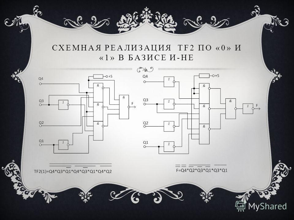 СХЕМНАЯ РЕАЛИЗАЦИЯ TF2 ПО «0» И «1» В БАЗИСЕ И-НЕ