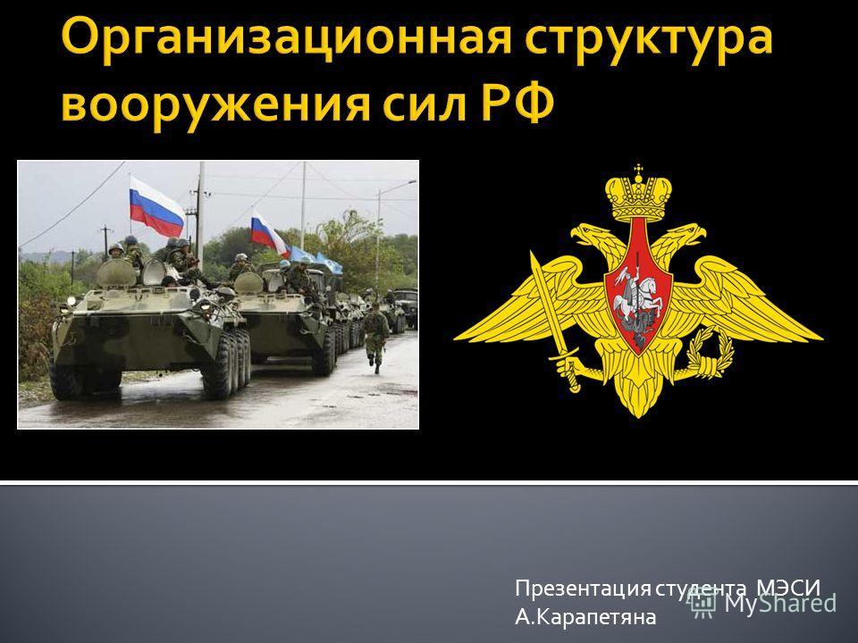 Презентация студента МЭСИ А.Карапетяна