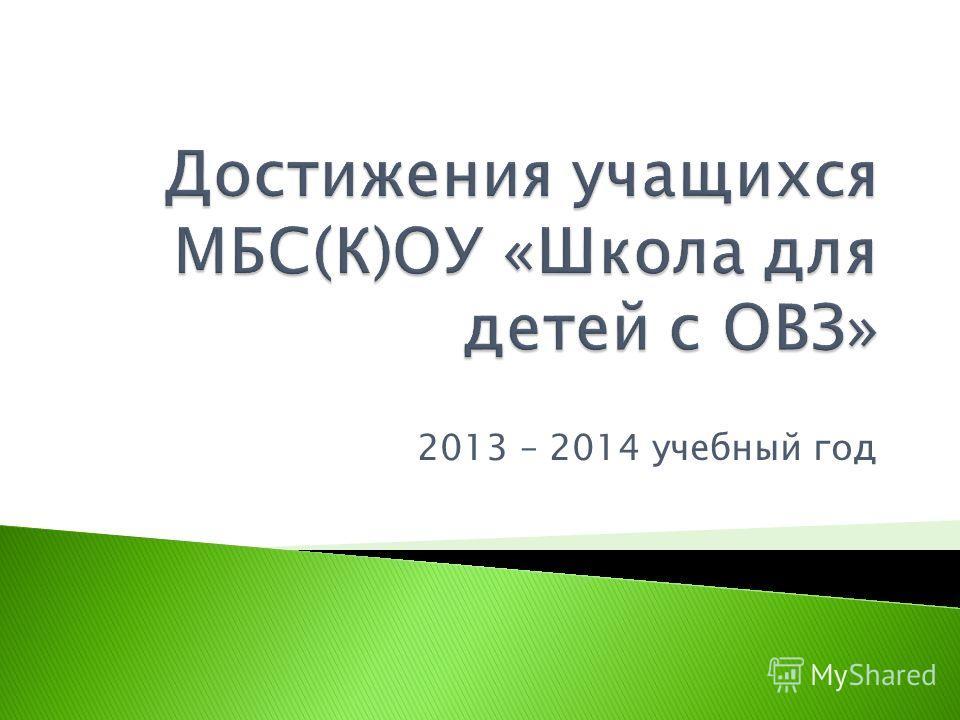 2013 – 2014 учебный год