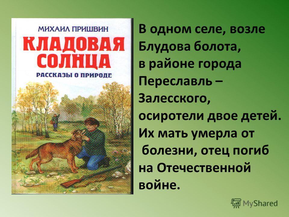 В одном селе, возле Блудова болота, в районе города Переславль – Залесского, осиротели двое детей. Их мать умерла от болезни, отец погиб на Отечественной войне.