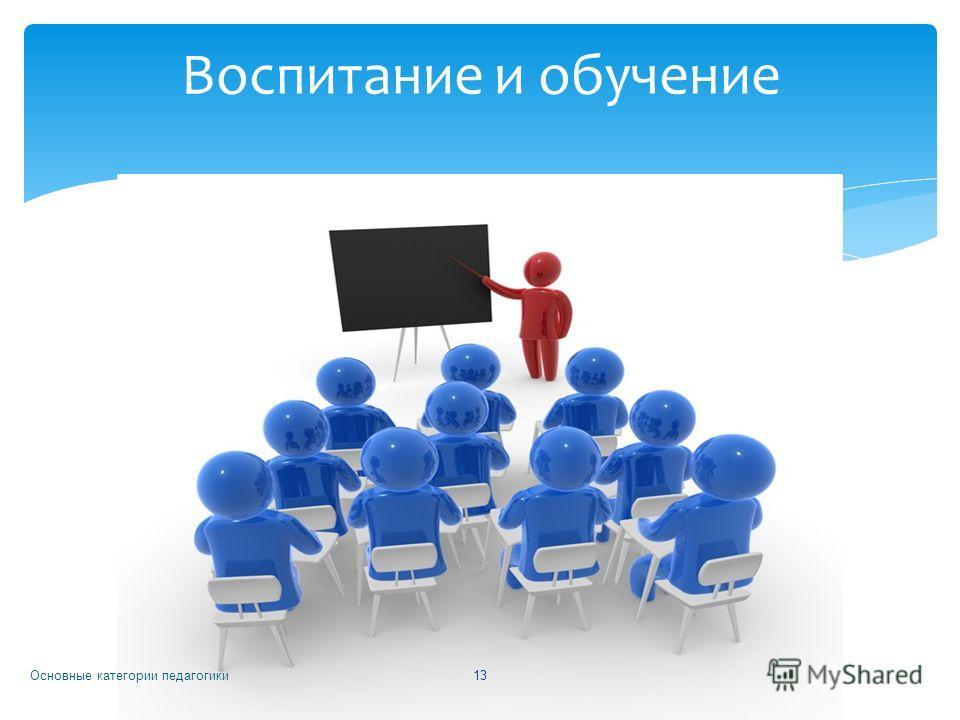 Основные категории педагогики 13 Воспитание и обучение