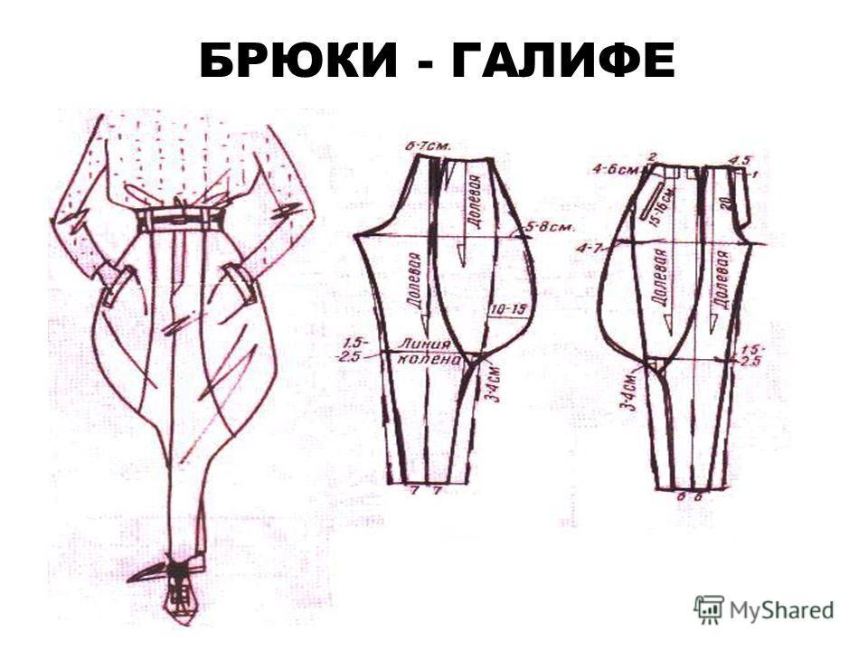 БРЮКИ - ГАЛИФЕ