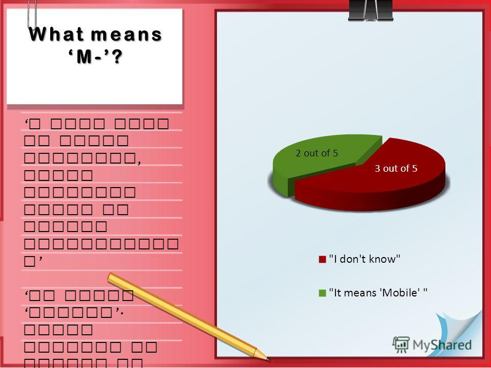 What means M-? I know that it means learning, which includes usage of mobile technologie s it means mobile. Using gadgets at school or university