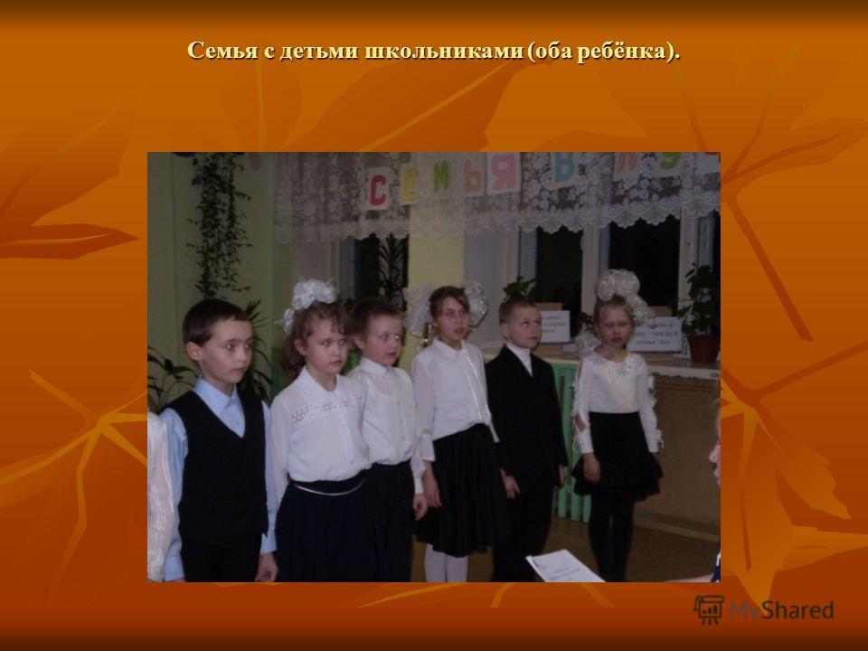 Семья с детьми школьниками (оба ребёнка).