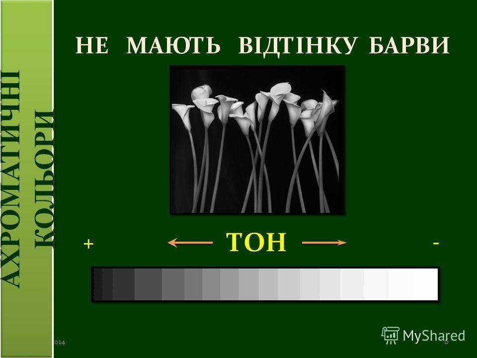 НЕ МАЮТЬ ВІДТІНКУ БАРВИ 20.06.20146 ТОН -+ АХРОМАТИЧНІ КОЛЬОРИ