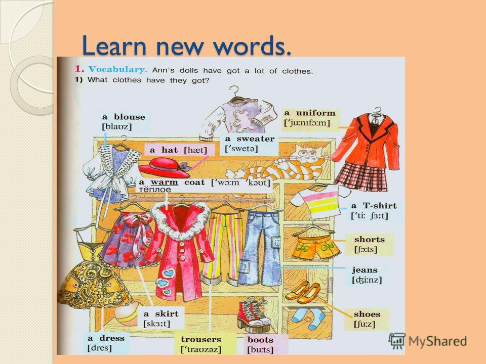 Learn new words.