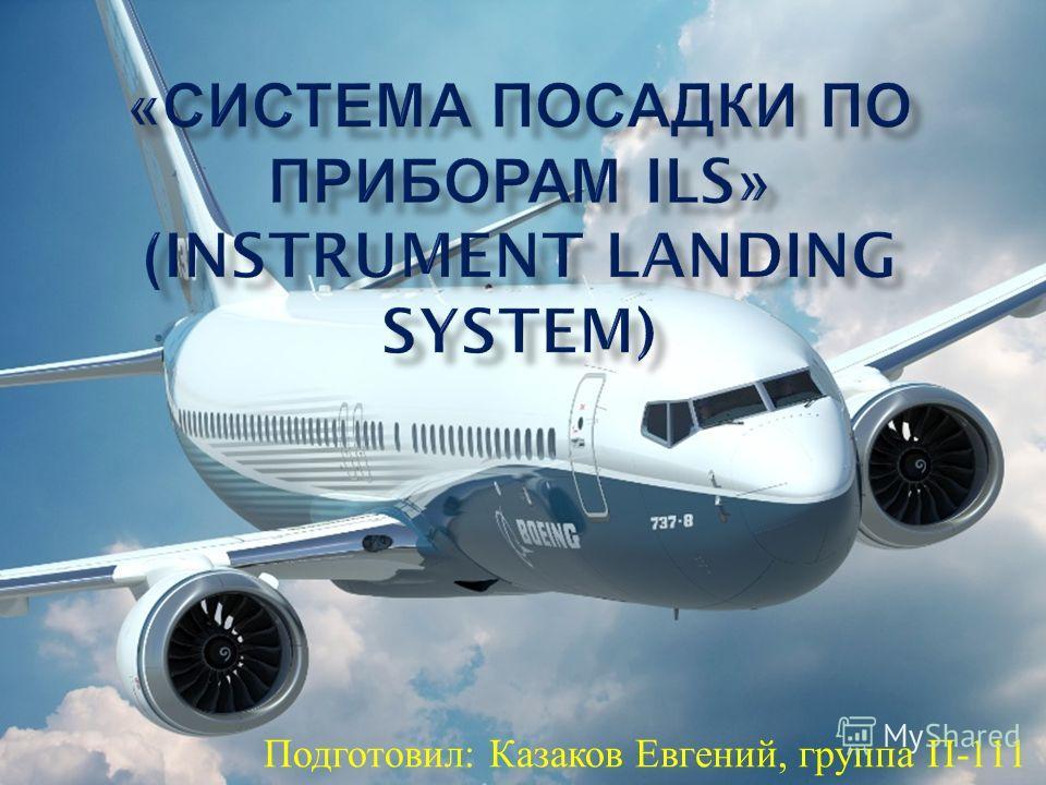 Подготовил : Казаков Евгений, группа П -111