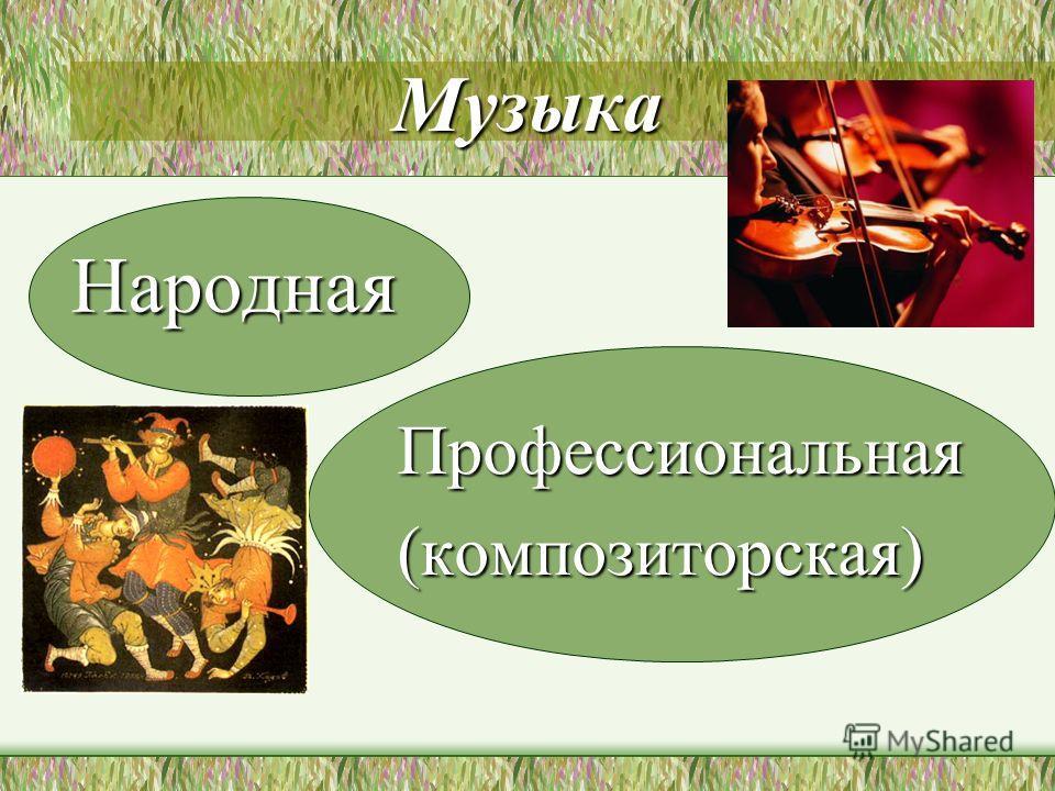 Музыка Народная Профессиональная(композиторская)