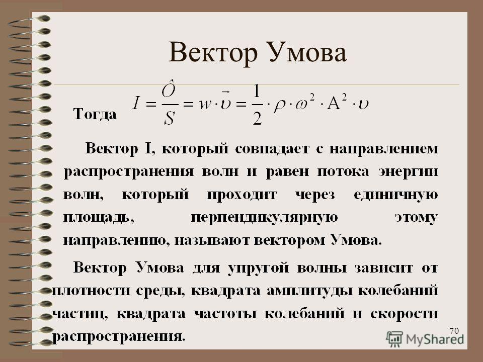 70 Вектор Умова