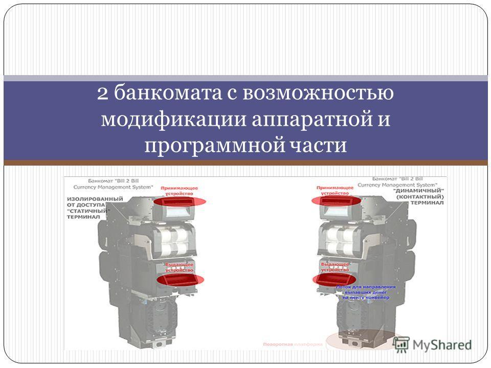 2 банкомата с возможностью модификации аппаратной и программной части