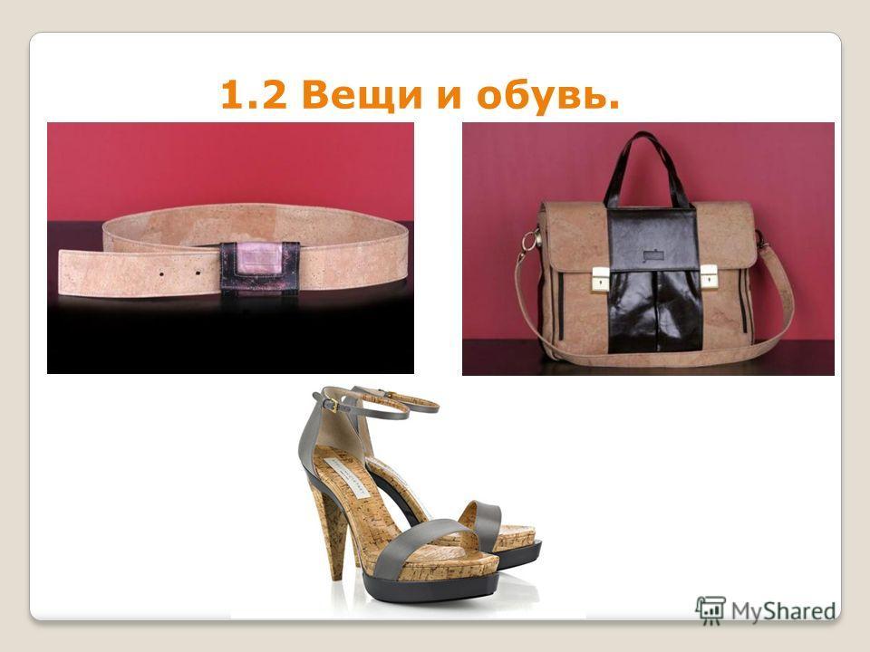 1.2 Вещи и обувь.