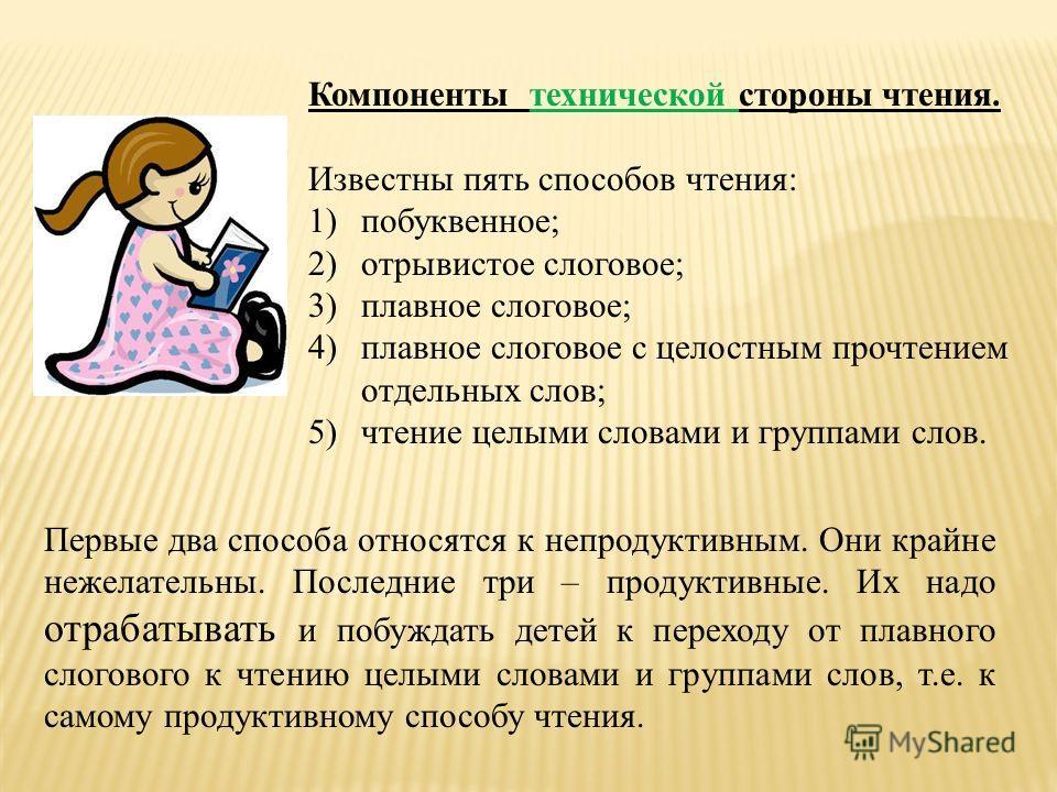 Смысловая сторона чтения Смысловая сторона чтения – это совокупное понимание читающим: 1)значений большей части слов, употребленных в тексте как в прямом, так и в переносном смысле; 2) содержания каждого из предложений, входящих в состав текста, уясн