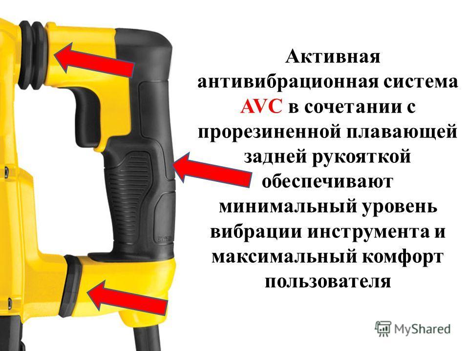 Активная антивибрационная система AVC в сочетании с прорезиненной плавающей задней рукояткой обеспечивают минимальный уровень вибрации инструмента и максимальный комфорт пользователя