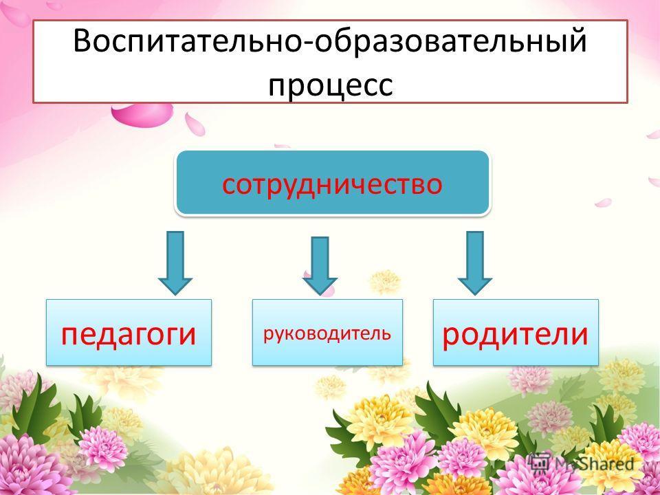 Воспитательно-образовательный процесс сотрудничество педагоги руководитель родители