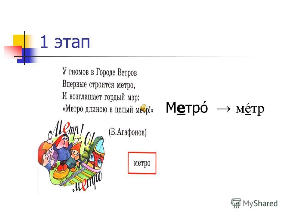 Механизм запоминания 3 этап 2 этап 1 этап