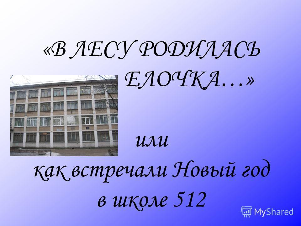 «В ЛЕСУ РОДИЛАСЬ ЕЛОЧКА…» или как встречали Новый год в школе 512