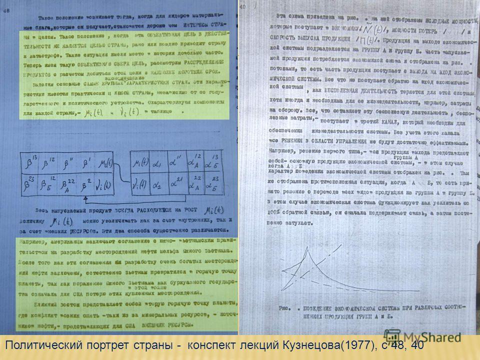 Политический портрет страны - конспект лекций Кузнецова(1977), с 48, 40