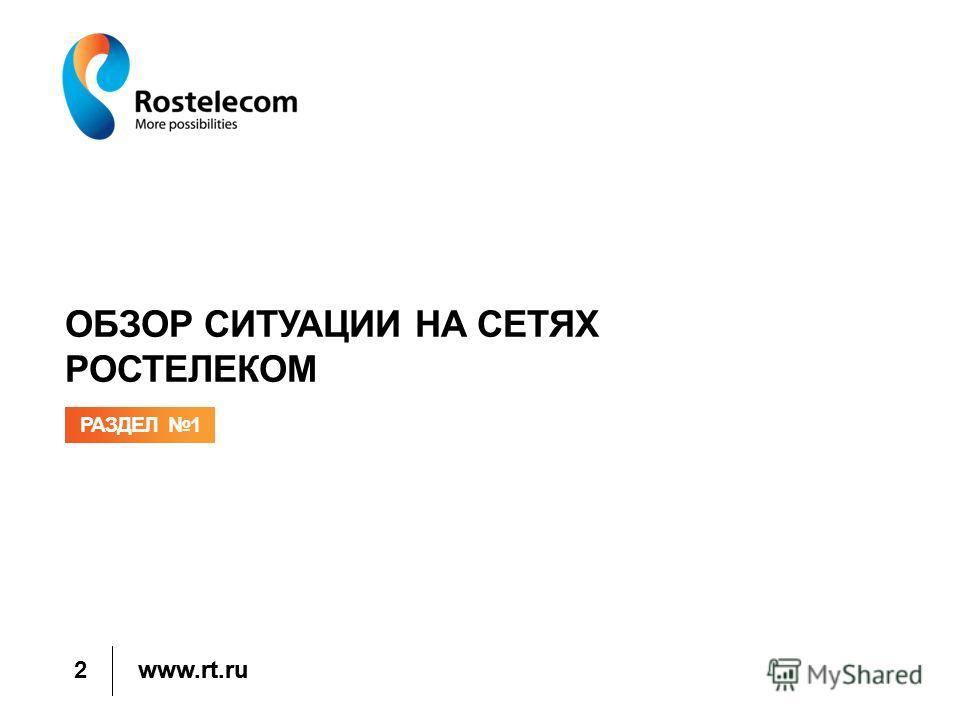 www.rt.ru ОБЗОР СИТУАЦИИ НА СЕТЯХ РОСТЕЛЕКОМ РАЗДЕЛ 1 2