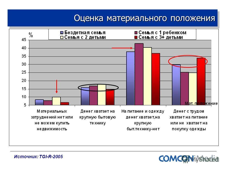 Оценка материального положения Источник: TGI-R-2005