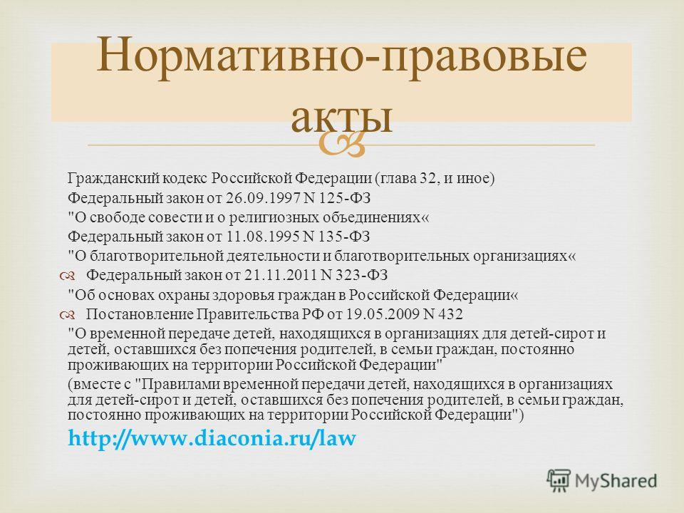 гк рф глава 29: